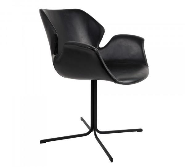 Zuiver Armlehnstuhl NIKKI ALL in Vintage schwarz - 4er Set Sonderpreis