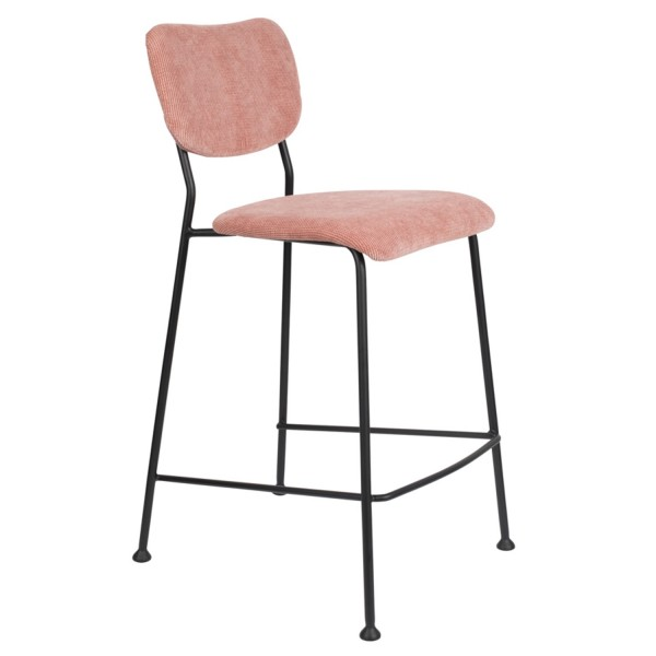 Zuiver Tresenstuhl BENSON Stoff pink