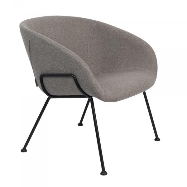 Zuiver Sessel Feston Stoff grau