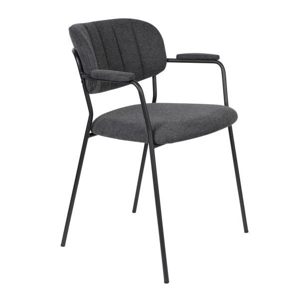 Zuiver Armlehnstuhl in Stoff dunkelgrau
