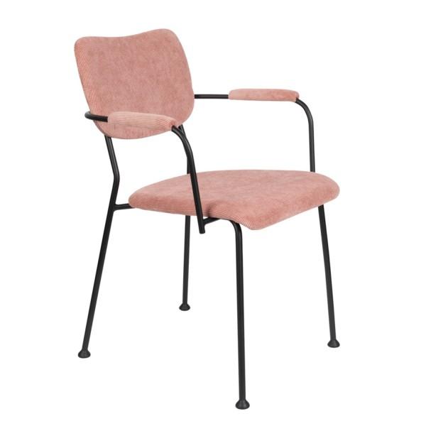 Zuiver Armlehnenstuhl BENSON Stoff pink