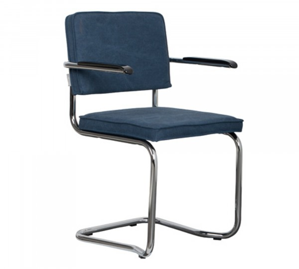 Zuiver Armlehnstuhl Ridge Kink Vintage seemanns blau 11