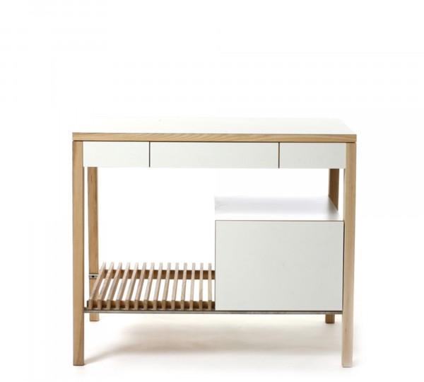 Mint Design Küchenzeile M2003 mit Echtholz und großem Schubfach