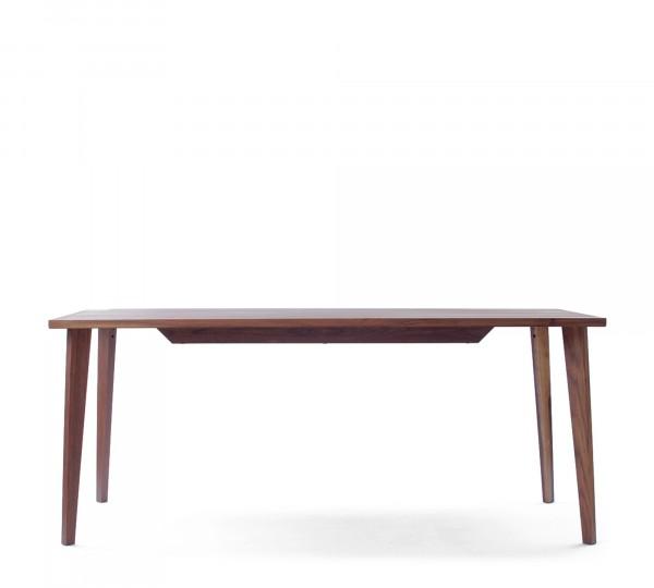Mint Design Tisch Quattro rechteckig Echtholz in Nussbaum, Eiche oder Esche
