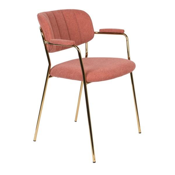 Zuiver Armlehnstuhl Jolien in pink
